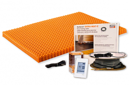 Schluter Ditra Heat Kit W Touch Screen 43 1 Sq Ft Mat 26 7 Sq Ft Cable Dhekrt12040